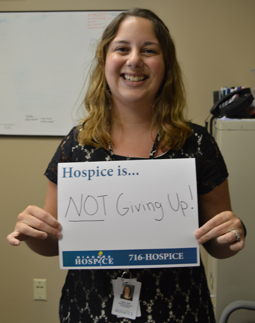 Niagara Hospice Volunteer Coordinator Allison Bolt  shares what Hospice is to her, dispelling one of the many myths of  hospice care.