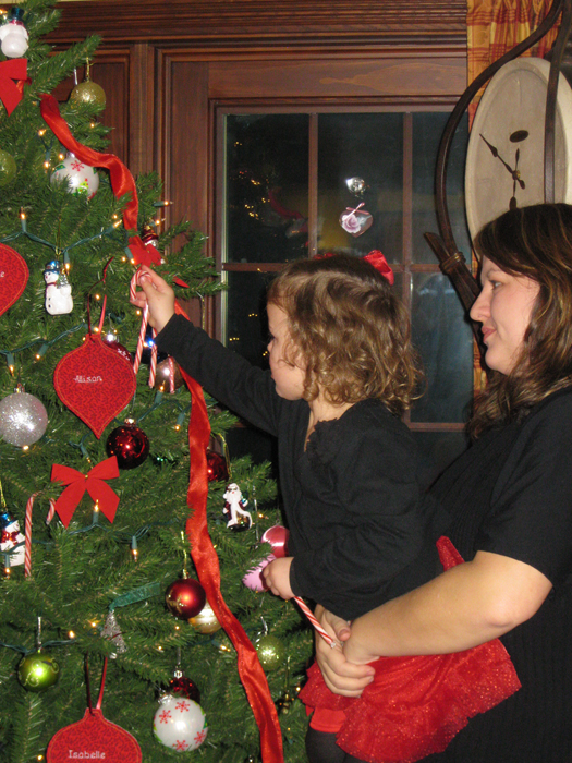 Niagara Hospice RN Arica Caskey and her daughter, Annika Caskey prepare for the upcoming Light-A-Life event to be held at Niagara Hospice December 6.